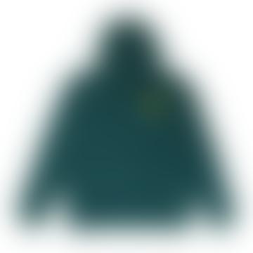 Hikerdelic Mountain Logo Hoodie Bottle Green