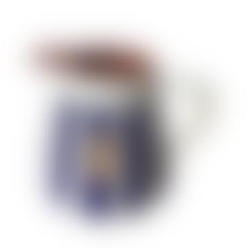 0,5l Ceramic Pitcher - Striped Blue
