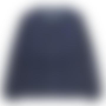 Taion Navy Crew Neck Zip Down Jacket