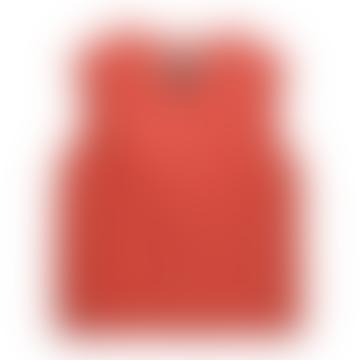 Taion Brick Red V Neck Down Vest