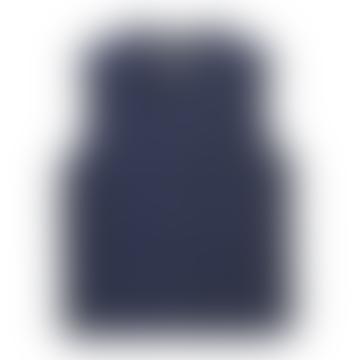 Taion Navy V Neck Down Vest