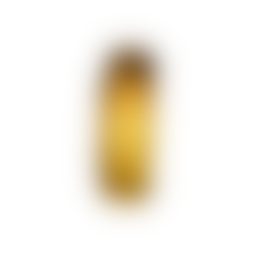 Water Swirl Vase Mouthblown Glass Amber
