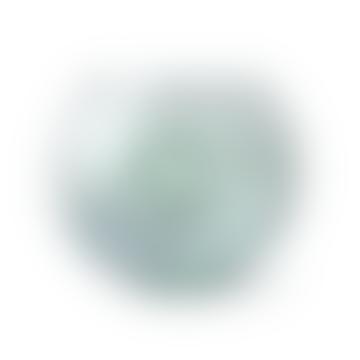 Tined Glass Circle Vase | Green