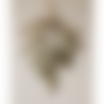 13cm Silver Tied Glitter Cones Decoration