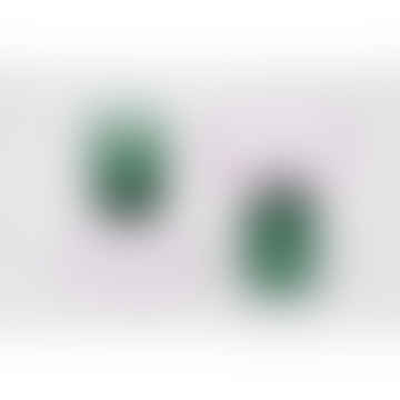 Potpourri Pink Smoke Green Glass Pulpo