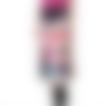 Hailey Printed Midi Skirt Magenta Xs S