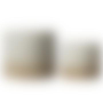 Wikholm Form White & Natural Glazed Ceramic Pot - Small