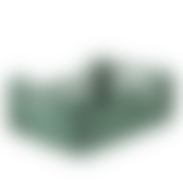 Midi Folding Storage Crate Almond Green