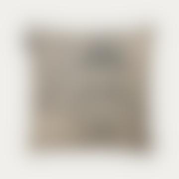 Linum Midsummer Cushion In Charcoal Grey