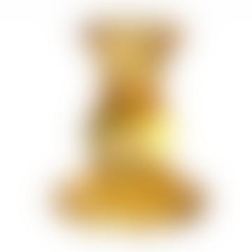 Amber Glass Candleholder