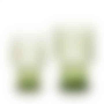 Van Verre Fleur De Lys Goblet Green Large