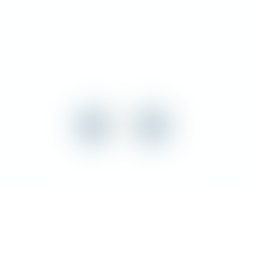 Pernille Corydon Shadow Earsticks, 6mm, blue crusty, silver