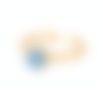 Pernille Corydon Small Shadow Ring, 6mm, blue druzy