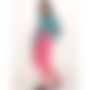 pepaloves Cotton Midi Skirt In Pink