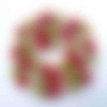 Candy Stripe Felt Ball Garland