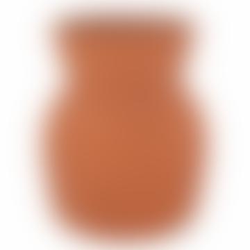 Pumpkin Ribbed Vase Small