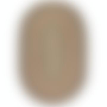 92 X 152cm Oval Organic Jute Kashmir Rug