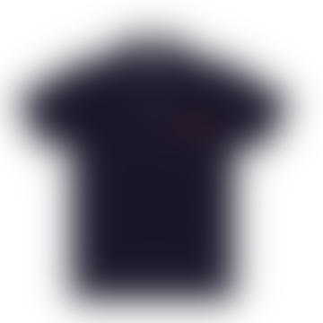 Play Mens Big Red Heart Polo Navy
