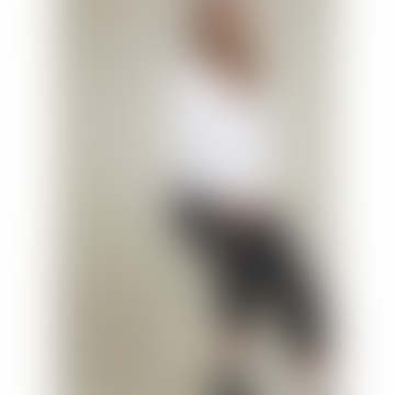 Relaxed White V Neck Long Sleeve Top Morgana