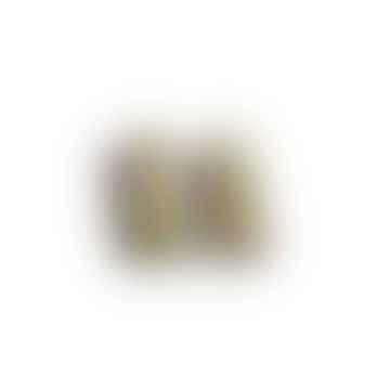 Sola Earrings - Green Marble
