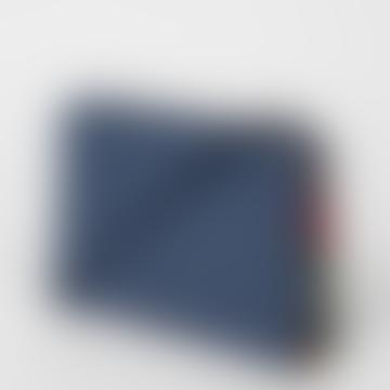 Leder Umhängetasche in Blau mit Wirbelbesatz