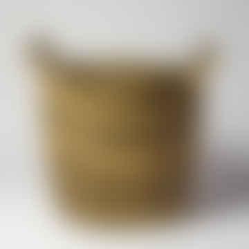 Striped Seagrass Basket - Medium