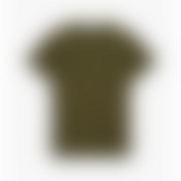 Green Vert Chard Embroidered T shirt