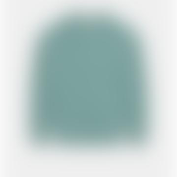 Celadon Green Wool Raglan Collar Jumper