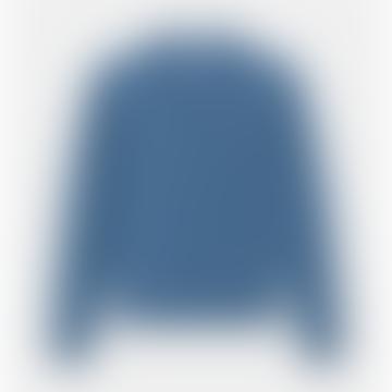 Blue Shetland Wool Jack Pullover