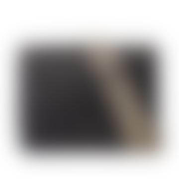 Audrey Mini Black Classic Karierte Leder-Umhängetasche Kleine strukturierte Umhängetasche
