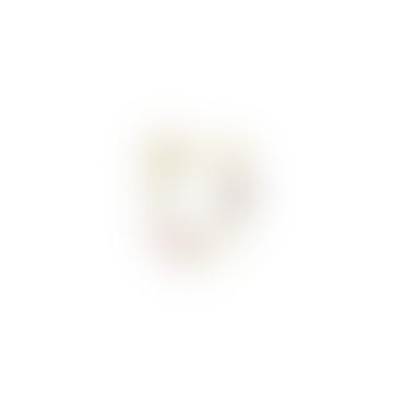 Single Confetti Chain Gold Earring