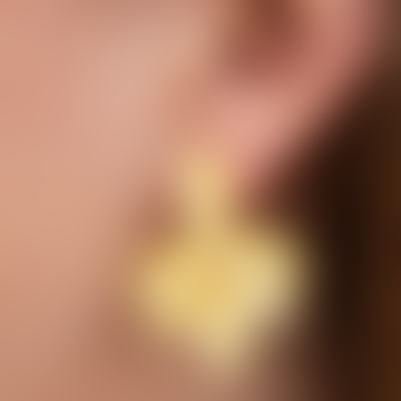 My Doris Gold Leaf Cluster Earrings