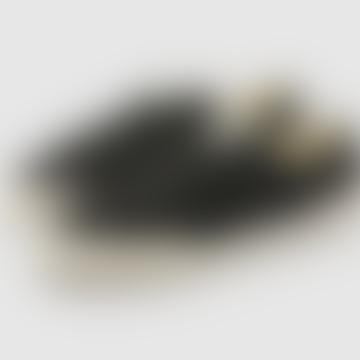 Damon Premium Leather Trainers Black