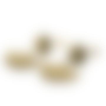 Lela 3 Way Hammered Brass Earrings