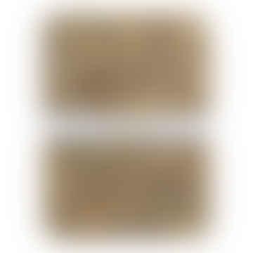 Eisgraue Rechteck-Kork-Tischsets