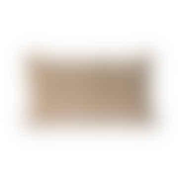 HKliving Striped Velvet Cushion Brown/Natural (30x50)