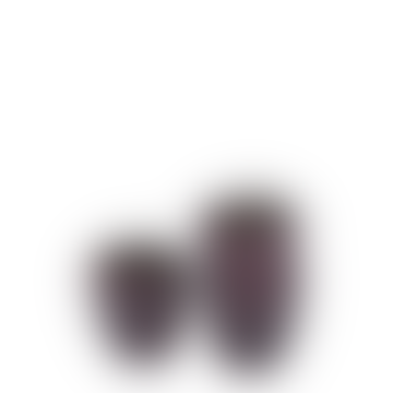 Ribbed Beaker Votive Matt Dark Red Set Of 3