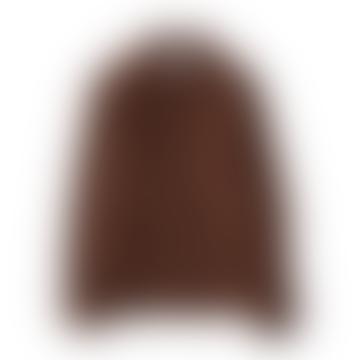 Veste en laine Shetland à carreaux marron