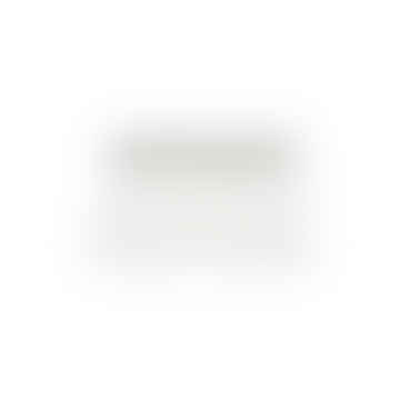 Chemin de table Svea blanc métallisé 36 x 80 cm