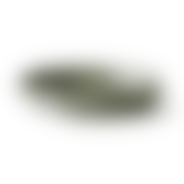 HKliving Gradient Deep Ceramic Plate | Green | Set Of 2
