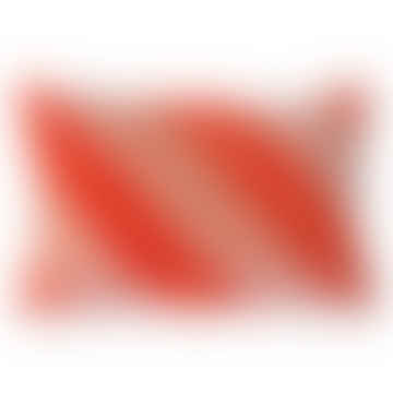 HKliving  Striped Velvet Cushion Red/Pink (40x60)