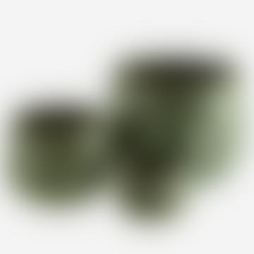 Large Green Leaf Textured Pot