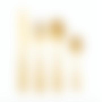 Hubsch Cutlery Knife/Fork/Spoon/Teaspoon Gold S/16