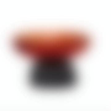 Hubsch Bowl Glass Orange/Black