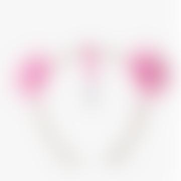 Pink Pom Pom Headband
