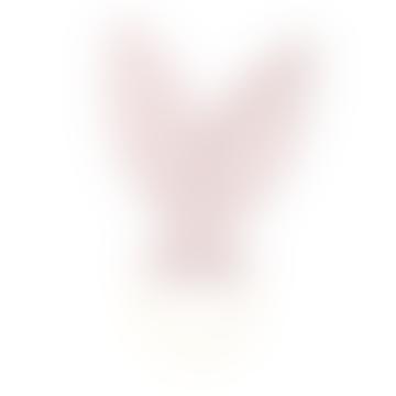 Pink Rabbit Ears Wood and Muslin Teething Ring