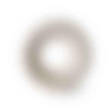 HKliving Circular Ceramic Vase 25x8x24.5cm in Mottled White
