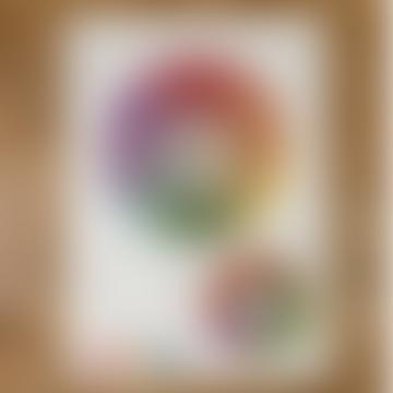 Cavallini Gift Wrap Wall Art - Colour Wheel - Folded