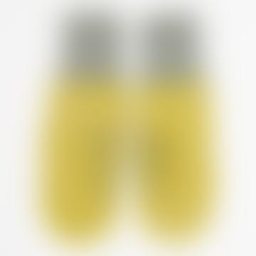 Afroart Yellow/White/Grey Handknitted Zigzag Mittens