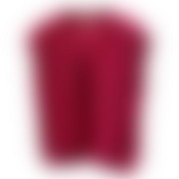 V-Neck Cable Knit Debardeur Fuchsia
